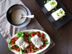 Japanese Chilled Tofu (2 ways) and Black Sesame Dressing