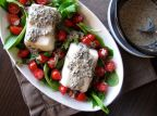 Japanese Chilled Tofu with Black Sesame Dressing