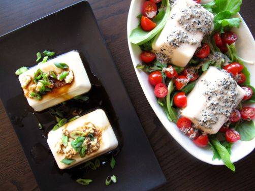 Japanese Tofu (two ways) and Kurogoma Dressing