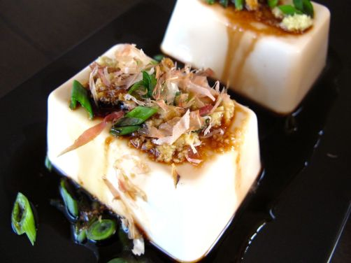 Japanese Tofu with Ginger, Scallions, and Katsuobushi