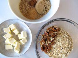 Ingredients for Berry Rhubarb Crisp (Gluten-Free)