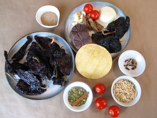Ingredients for Mole Poblano