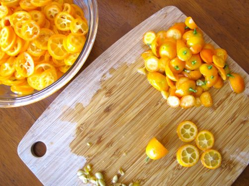 Making Kumquat Cardamom Marmalade