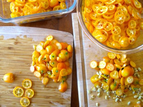 Making Kumquat Marmalade