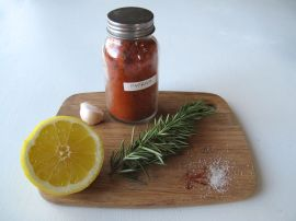 Ingredients for Paprika Gambas al Ajillo with rosemary and saffron