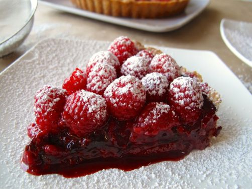 Raspberry Chocolate Tart with Coconut Crust