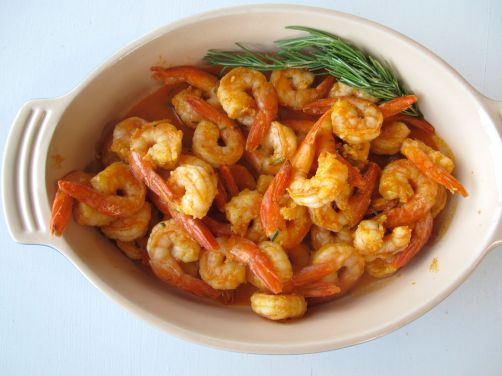 Paprika Gambas al Ajillo - Garlic Shrimp Tapas with rosemary