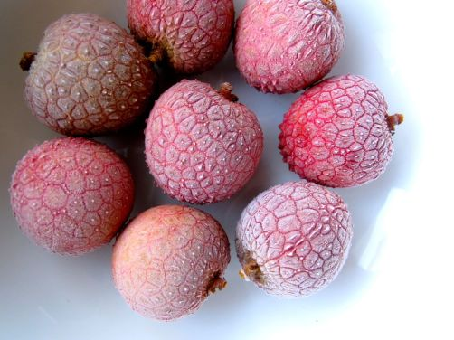 Frozen Lychees to use as ice cubes