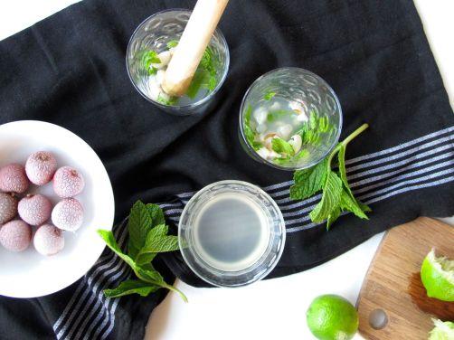 Making Lychee Mojitos
