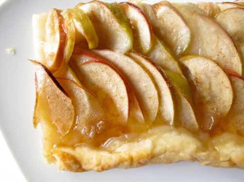French Apple Tart with Brown Sugar Cinnamon Glaze