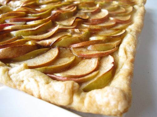 French Apple Tart with Brown Sugar Cinnamon Glaze