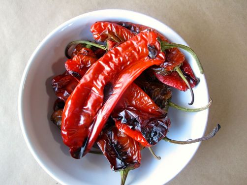 Roasting Peppers for Muhammara and Hummus