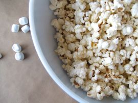 Stovetop-popped popcorn for Peanut Butter Popcorn Balls
