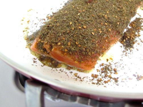 Making Za'atar Crusted Salmon