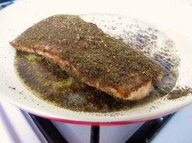 Making Za'atar Crusted Salmon