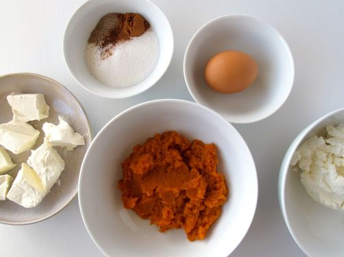 Ingredients for Pumpkin Cheese Blintzes