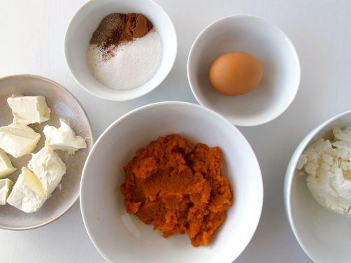 Ingredients for Pumpkin Cheese Blintzes