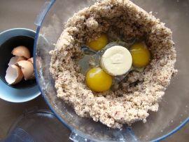 Making Persimmon Hazelnut Cake
