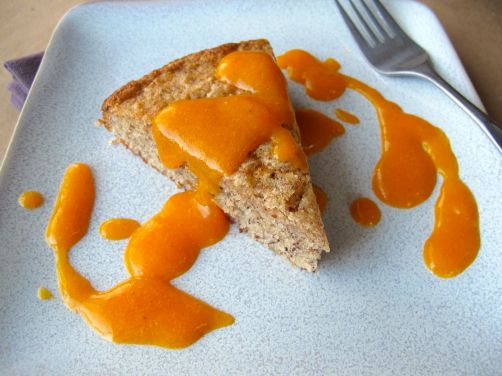 Persimmon Hazelnut Cake with Persimmon Sauce