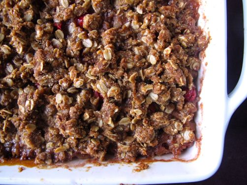 Pear Cranberry Crisp with cardamom (gluten-free)