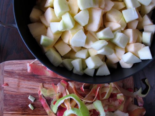 Making Homemade Applesauce for Cinnamon Apple Tamales