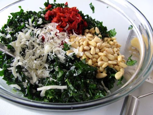 Making Tuscan Kale Salad
