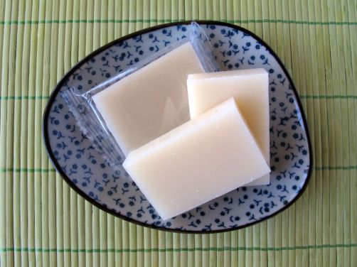 Blocks of dried mochi (Japanese rice cakes)
