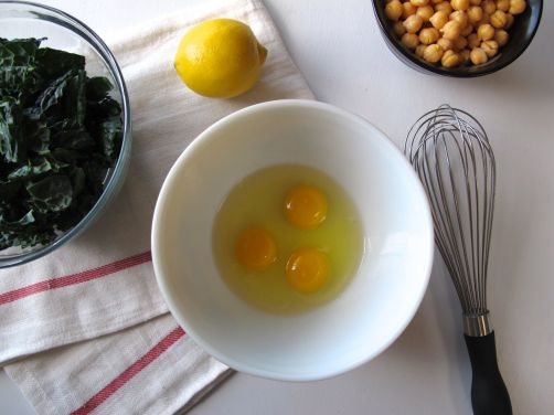 Making Avgolemono - Greek Egg Lemon Soup with Chickpeas and Kale