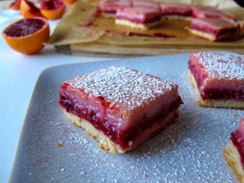 Raspberry Blood Orange Bars