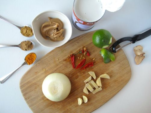 Ingredients for Easy Thai Peanut Curry