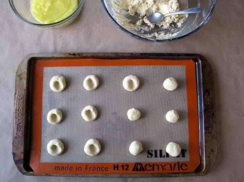 Making Lemon Lime Thumbprint Cookies