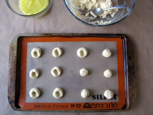 Making Lemon Lime Thumbprint Cookies