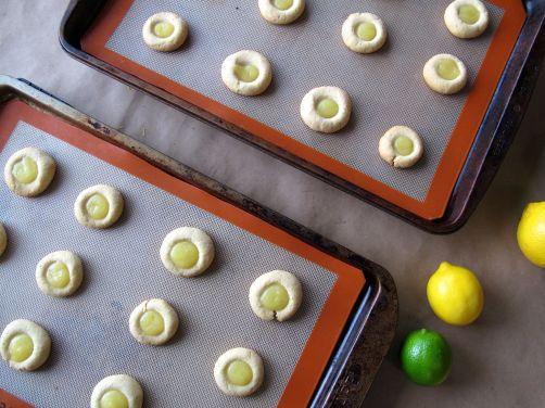 Lemon Lime Thumbprint Cookies