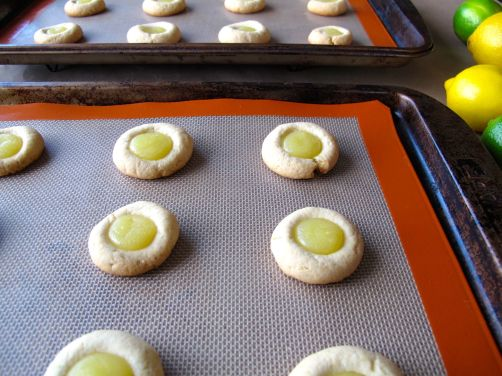 Lemon Lime Thumbprint Cookies