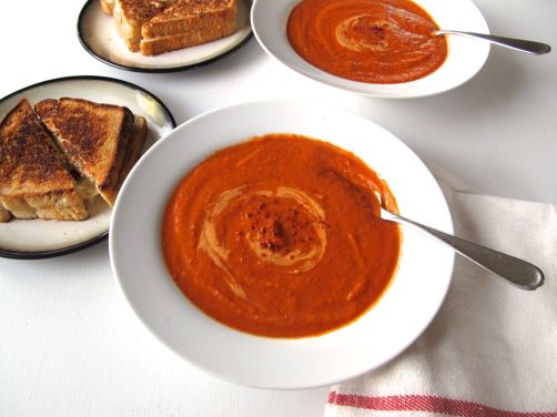 Spicy Tomato Soup with Red Lentils and Aleppo Pepper