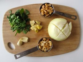 Ingredients for the Nepali Momo (Steamed Dumpling) filling