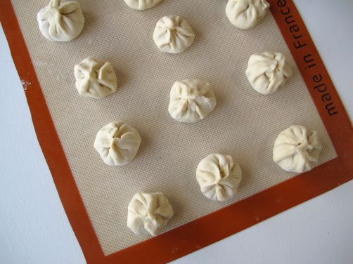 Folded Nepali Momos (Steamed Dumplings)