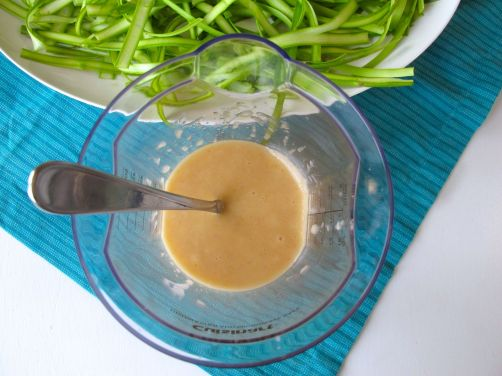 Preserved Lemon Salad Dressing for Asparagus Salad and Passover Potatoes