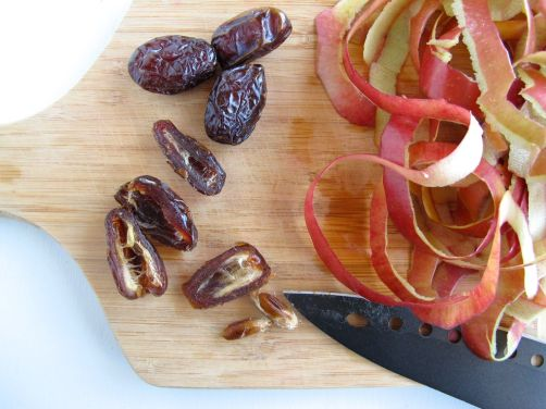 Dates and apples for Charoset