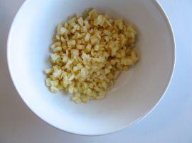 Diced apples for Charoset