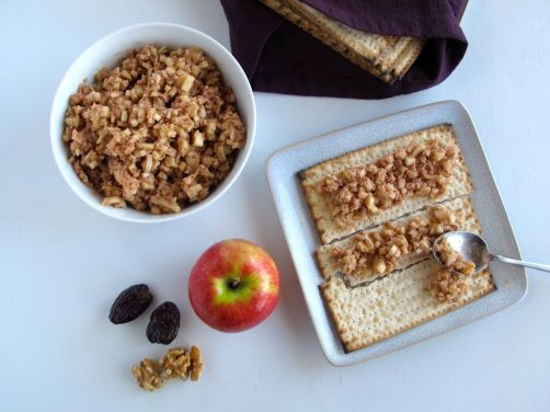 Charoset with Apples, Walnuts, Dates, and Pomegranate Molasses