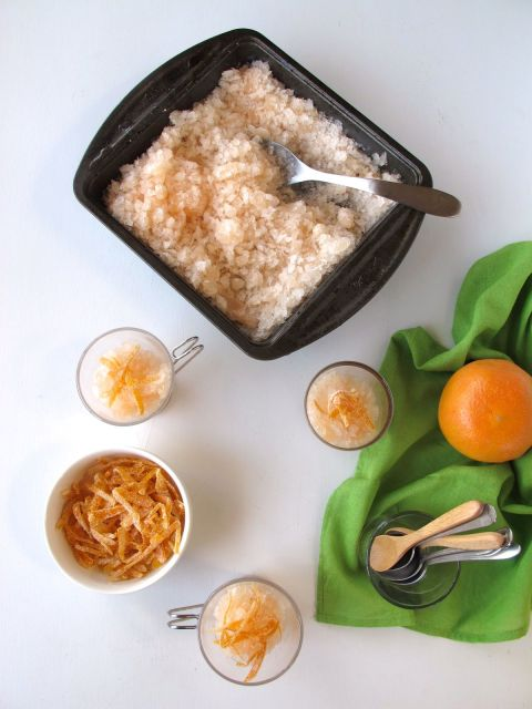 Greyhound Granita with Candied Grapefruit Zest