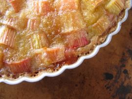 Brown Butter Strawberry Rhubarb Tart
