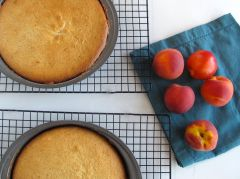 Making Peaches and Cream Cake