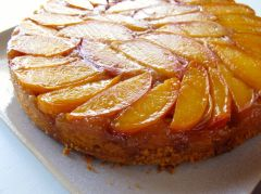 Peach Upside-Down Cake layer