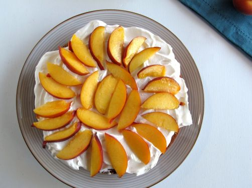Bottom layer for Peaches and Cream Cake