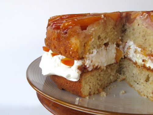 Peaches and Cream Layer Cake