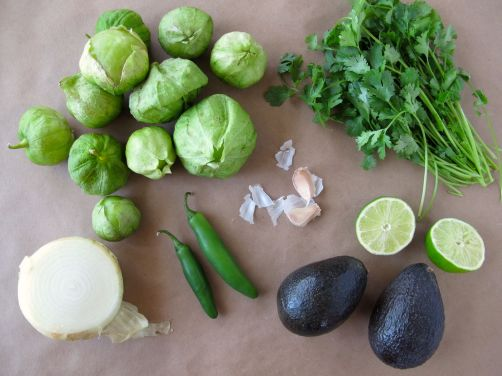Ingredients for Taqueria-Style Creamy Avocado Salsa