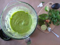 Making Taqueria-Style Creamy Avocado Salsa