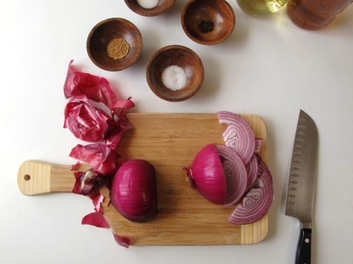 Ingredients for Quick-Pickled Red Onion